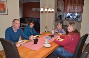Kaffeetrinken bei Familie Libor