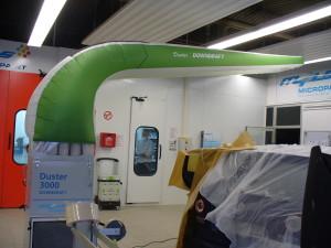 der mobile Duster Absauger kann die Luft direkt vor Ort die Luft reinigen und sorgt so für optimalen Arbeits-und Umweltschutz