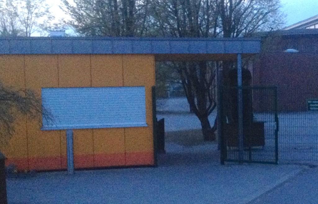 Parkeingang am 26.03.2014 um 05.58 Uhr Leserfoto: Dr. Ralf Wohlbrück