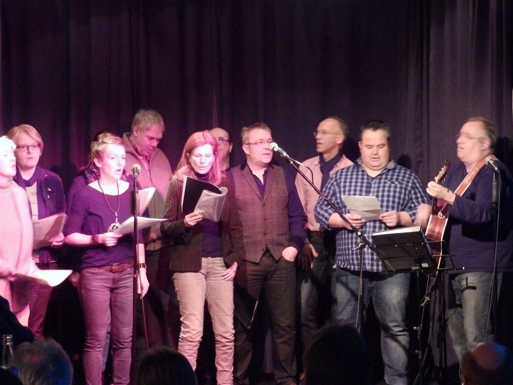 Erstmailig war ein Chor auf Oelder Akustik Open Stage
