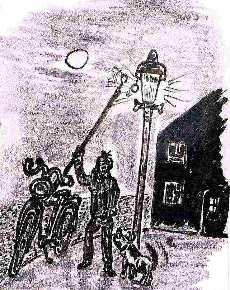 Ein Gasmann in Oelde entzündet eine Lampe